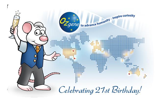 Ozgene's 21st birthday mouse