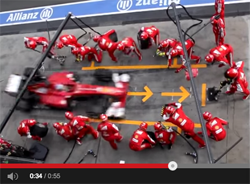 F1 tyre change